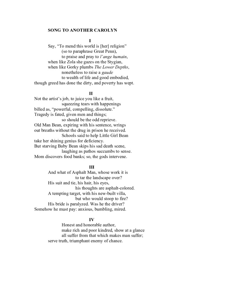 thumbnail of Song to Another Carolyn